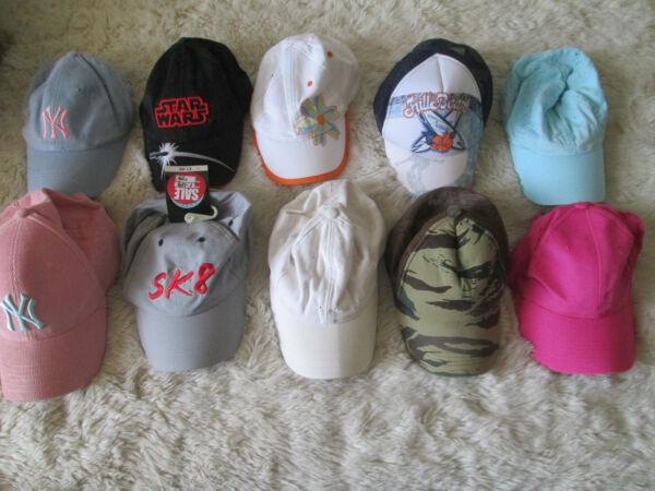 10 Colori Diversi Cappellini Taglia 4 Misto Cotone To12 Anni