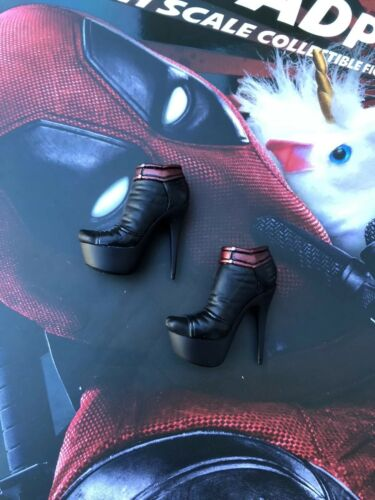 Hot Toys MMS490 Marvel Deadpool 2 X Men High Heel Stripper Shoes Loose UK New