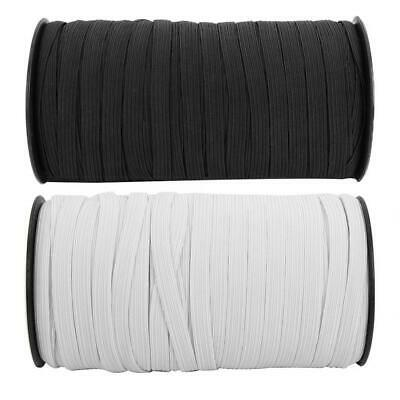 Knitted Elastic Black /& White 5//16 inch made in the USA Same Day Free Shipping