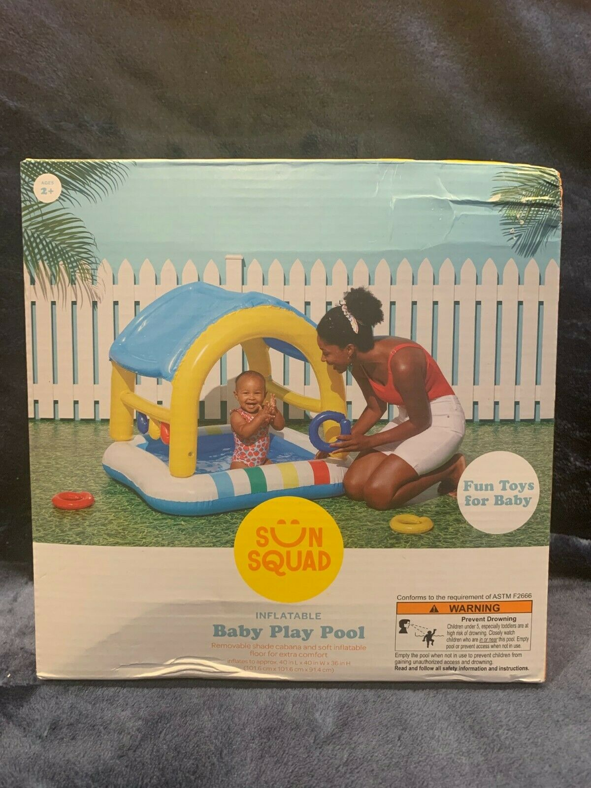 Sun Squad Inflatable Baby Play Pool Ages 2+ NEW Sealed