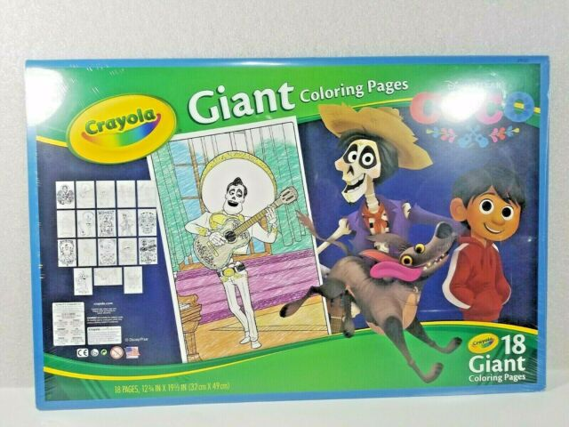 SEALED Crayola GIANT Disney Pixar COCO, Coloring Pages, Land Of The Dead,  Miguel For Sale Online