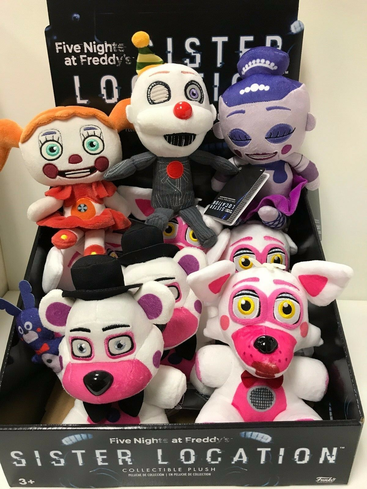 FUNKO SISTER SISTER SISTER LOCATION PLUSH  SET OF 5 NEW WITH TAG READY TO SHIP 6fcd43