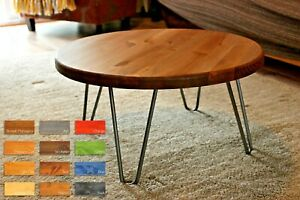 Round Coffee Table Hairpin Legs 9