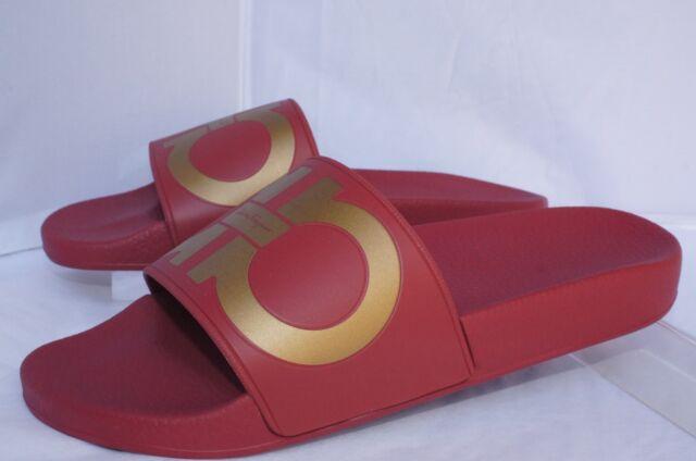 4d721f28c62 New Salvatore Ferragamo Groove Slide Sandals Size 9 Men s Slip Ons Holiday  Sale