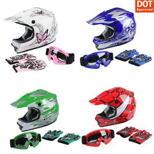 DOT Youth Helmet Child Kids Motorcycle Full Face Spiderman Offroad Dirt Bike ATV