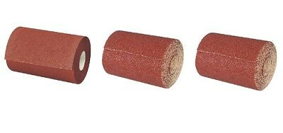 3 pack  60 80 120 grit sandpaper rolls x 5mtr abrasive for paint wood varnish