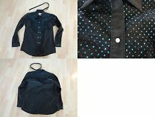 Women's 36 Rockmount Ranchwear Cowgirl Denver CO Custom Fitted Shirt Pearl Black
