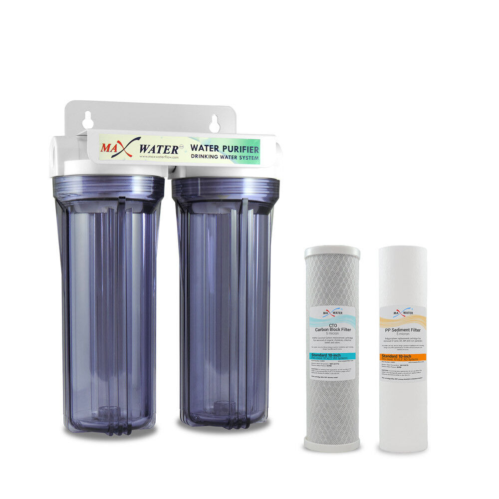 2 Stage10  Whole House Water Filter Sediment Carbon Filter  RVS WELL POOL.BOILER