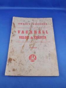 image is loading owners-handbook-vauxhall-velox-amp-cresta-ts-384-