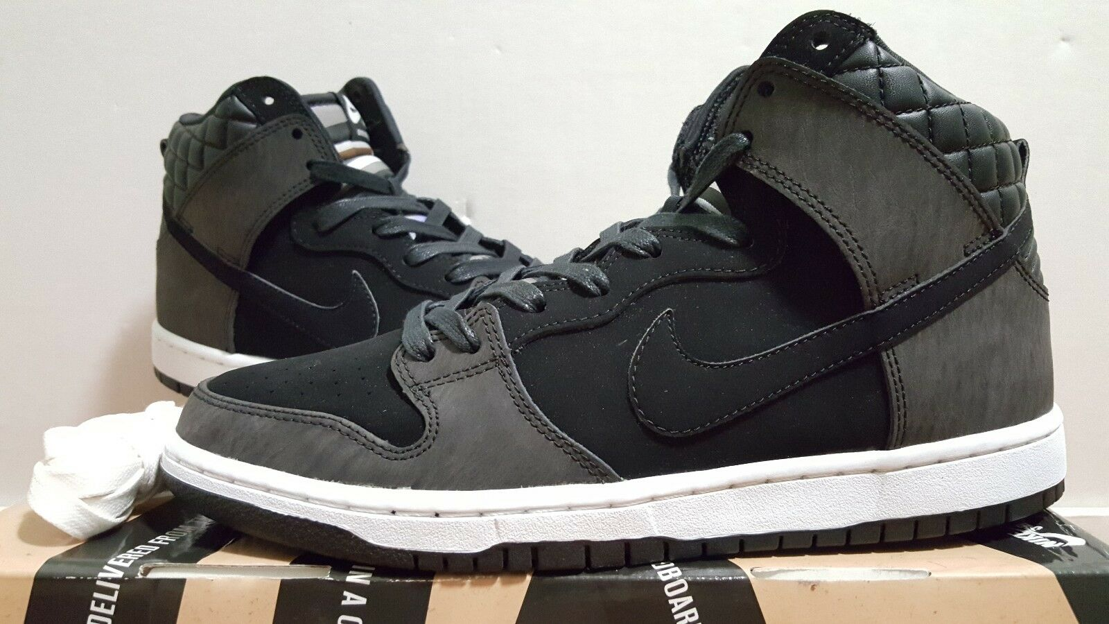 Nike SB Dunk High Premium  Civilist  Black  White (313171 016)- Sz 9.5 NEW