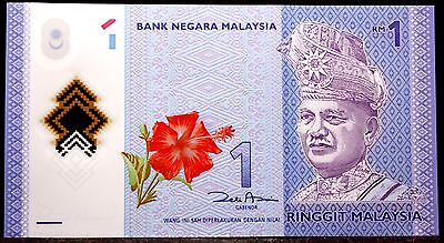 Bank Of Malaysia $1 Rn 2012 Polymer Note Rapid Heat Dissipation