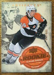2008-09-UD-Artifacts-CLAUDE-GIROUX-204-Philadelphia-Flyers-Rookie-RC-33-999
