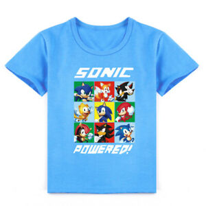 Kids Cartoon Sonic The Hedgehog T Shirt For Boys Short Sleeve Clothes Ebay