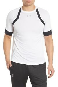 Under Armour Men/'s HexDelta Run Fitted White /& Black T-Shirt