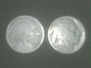 1913 P & 1914 Buffalo Nickels !! - GREAT FILLERS - SHIPS FREE !!  TAKE A LOOK !!