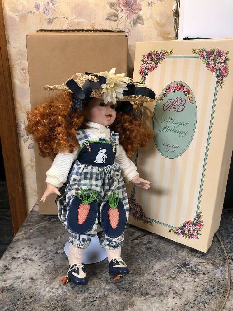 """Morgan Brittany Lindsey Bunny Carrot Outfit Gardener 16"""" Doll"""