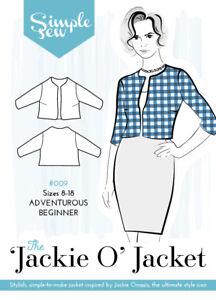 Womens-Ladies-Beginner-Simple-Sew-The-Jackie-O-Jacket-UK-8-18-Sewing-Pattern