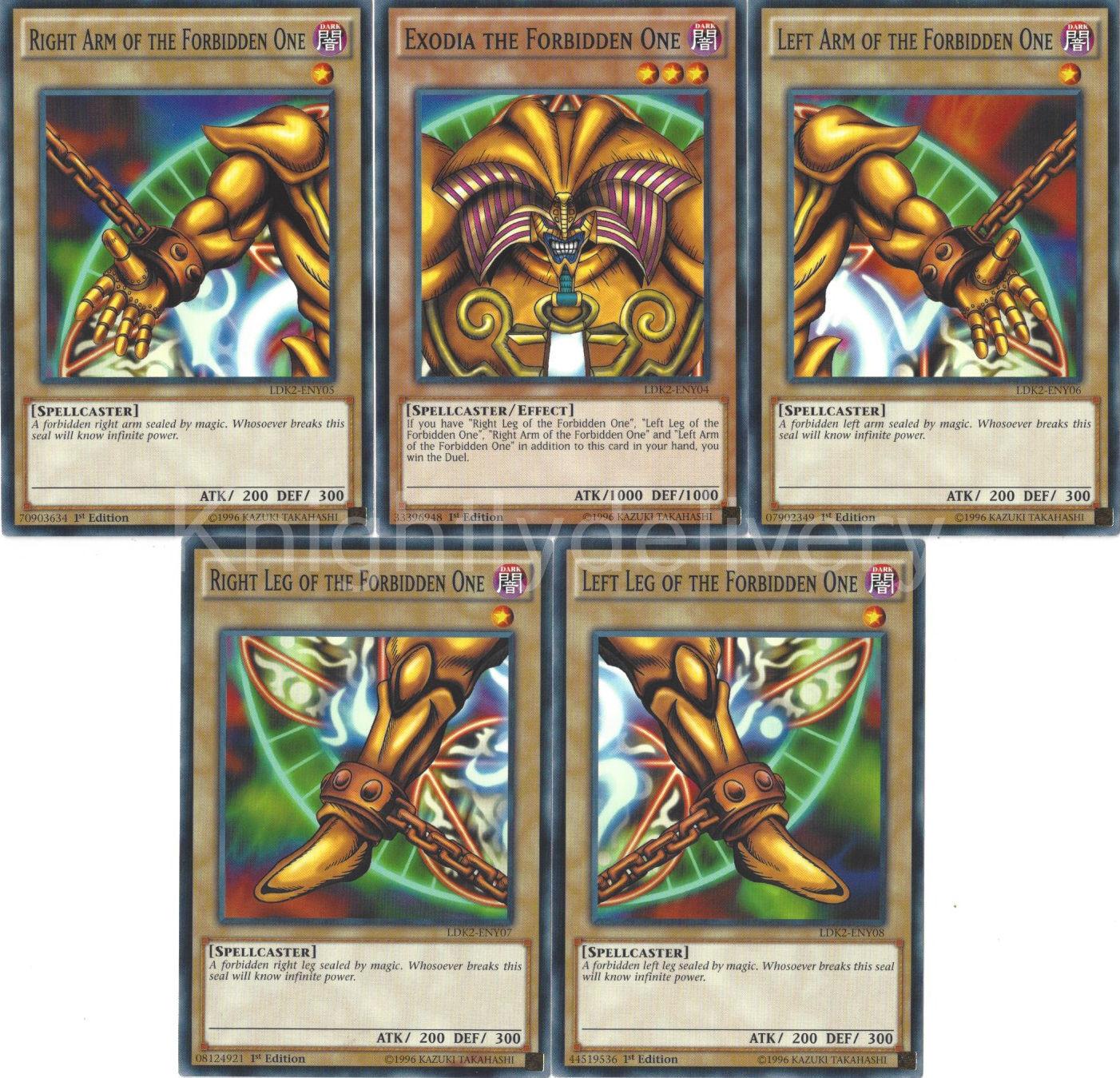 5 Piece Exodia Set + Egyptian God Set + Sacred Beast Set - Ultra - + Bonus