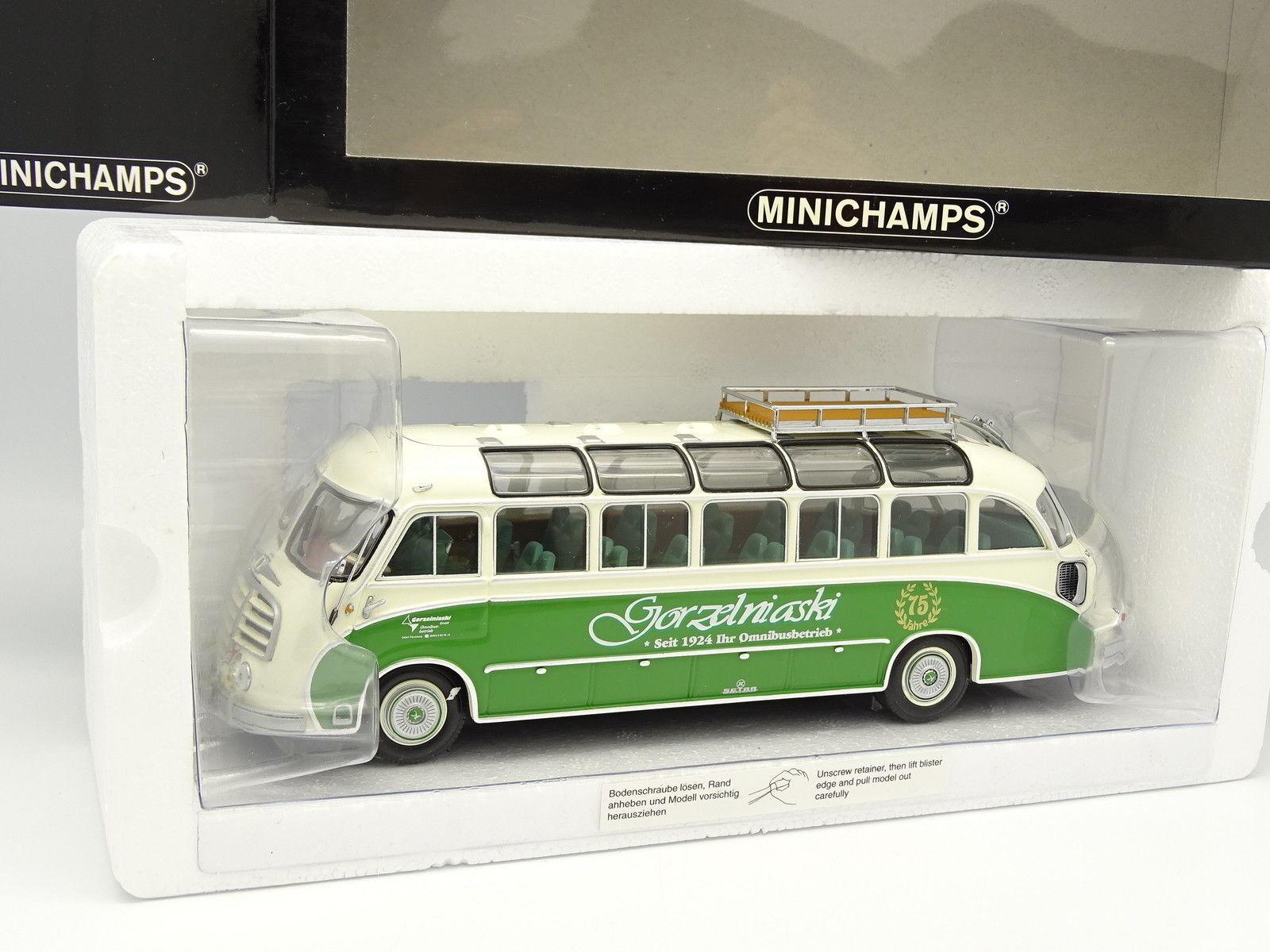 Minichamps 1/43 - Car Autocar Setra S8 1953 Vert Gorzelniaski