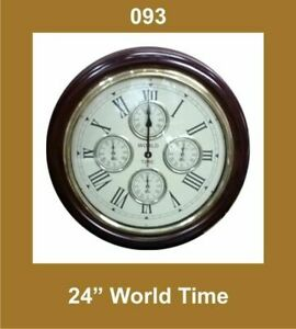 New-World-Time-Clock-24-039-039-Nautical-Roman-Number