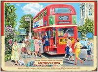 CONDUCTORS RED LONDON DOUBLE DECKER BUS ROUTEMASTER METAL SIGN TIN PLAQUE 347