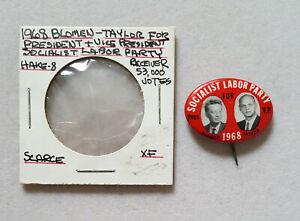 1968-Socialist-Labor-Party-Blomen-Taylor-President-political-campaign-button-pin
