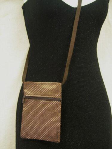 "Tiny Dots Print Messenger Shoulder HandBag Crossbody Women/'s Bag Brown 5/""x6.5/"""