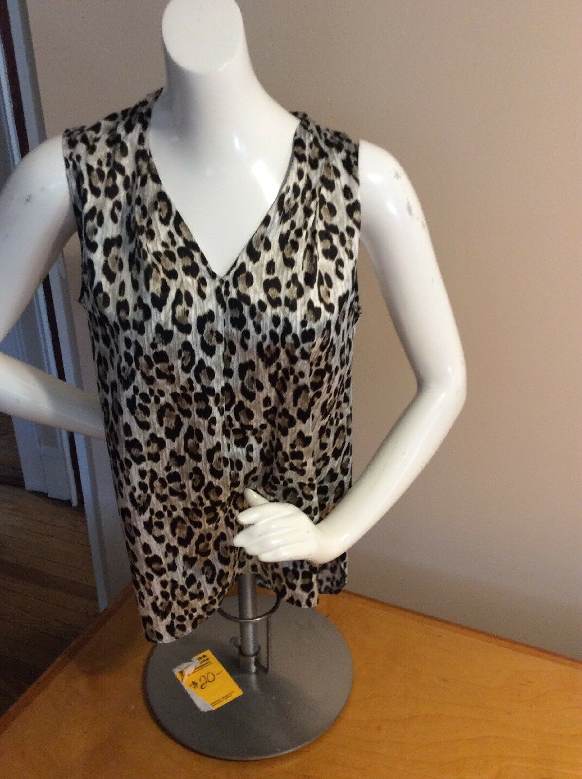 WOMEN'S TAHARI ANIMAL PRINT TANK SHIRT SIZE SMALL P20Q