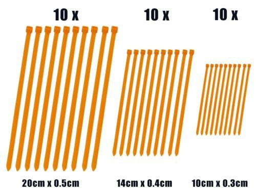 Zip Cable Ties x 30 Orange fits Bombardier DS650 X 04-07