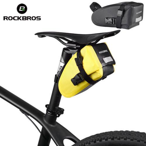ROCKBROS Cycling Waterproof Tail Bag Bike Saddle Rear Storage Bag Black/&Yellow