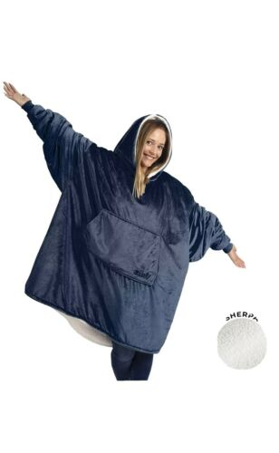 Brand New Blue THE COMFY Sherpa Sweater Snuggy One Size