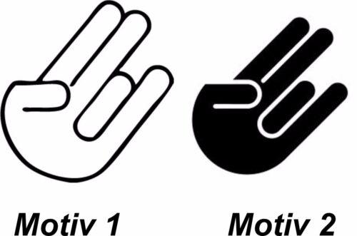 3er Set The Shocker Hand Kult Autoaufkleber Laptop Motorrad Aufkleber Sticker