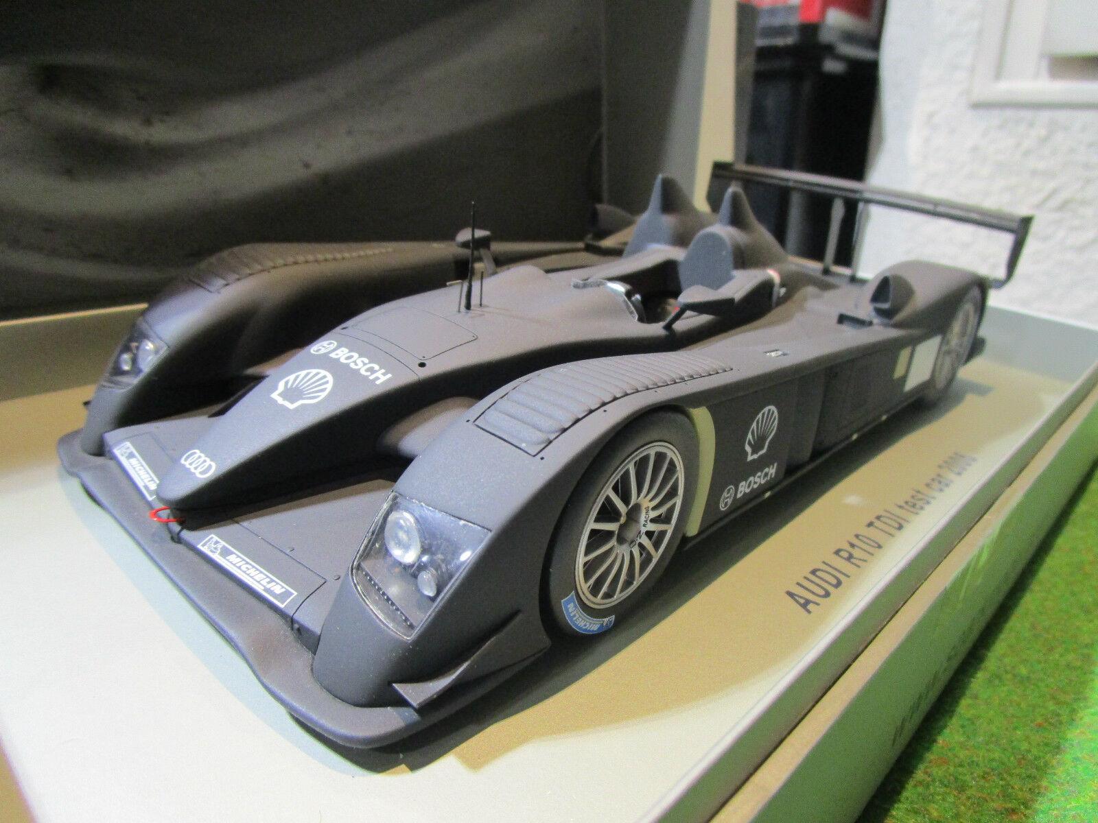 AUDI R10 TDI TEST CAR 2006 noir mat 1 18 SPARK 18S009 voiture miniature collecti