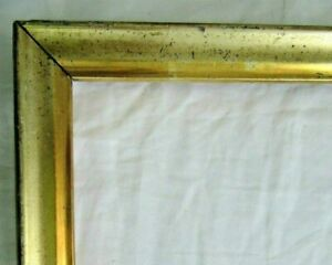 ANTIQUE-FITS-10-X-17-034-GOLD-GILT-PICTURE-FRAME-WOOD-GESSO-FINE-ART-COUNTRY