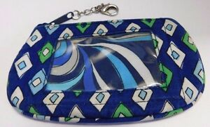 Vera Bradley Mosaic Zip ID Card Holder Coin Bag Change Purse Wallet