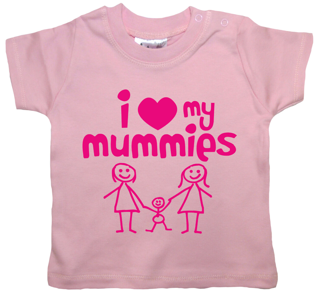 "LGBT Baby T-Shirt /""I Love my Mummies This Much/"" Gay Lesbian Pride"