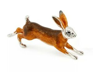 Saturno-Sterling-Silver-and-Enamel-Wildlife-Hare-Large-ST147-1-NEW