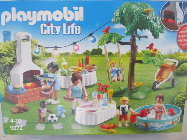 PLAYMOBIL 9272 City Life Housewarming Party Kids Play Set With lots Of Accesso