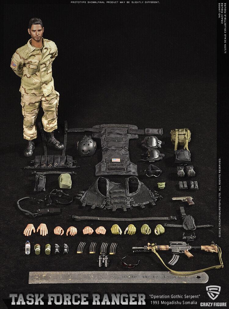 1 12 Crazy Figura LW005 Rangers TASK FORCE 1993 6  SOLDATO Action Figure modello