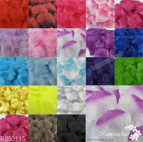 200 1000PCS Flowers Silk Rose Petals Wedding Party Table Confetti Decoration