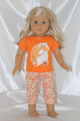 Dress Outfit fits 18inch American Girl Doll Clothes Unicorn Hearts