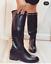 miniatura 2 - Scarpe Donna Stivali stivaletti alti donna tacco basso stivali con borchie moda
