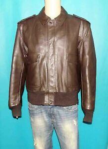 blouson SCHOTT 674 vintage made USA en cuir marron taille 48 us ou 58 fr