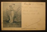 DR: Alte kolor. Ansichtskarte Postkarte 1899: Gruss aus..
