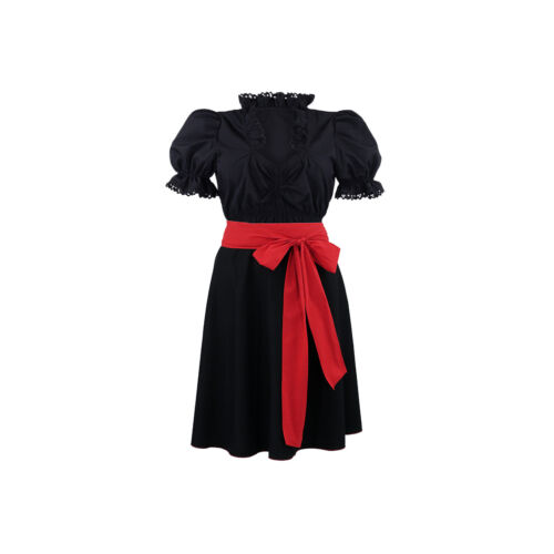 Damen Rock Schleife Damenrock Set Schwarz rot Glockenrock Trachtenrock Neu