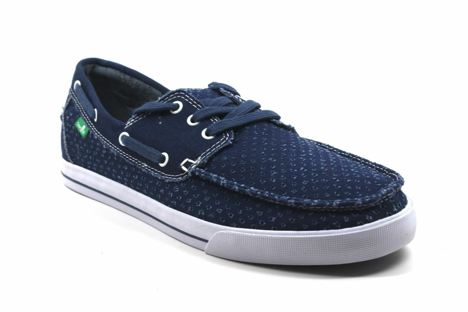 2018 NWOB MENS SANUK THE SEA MAN PERF SHOES  9 navy classic boat style