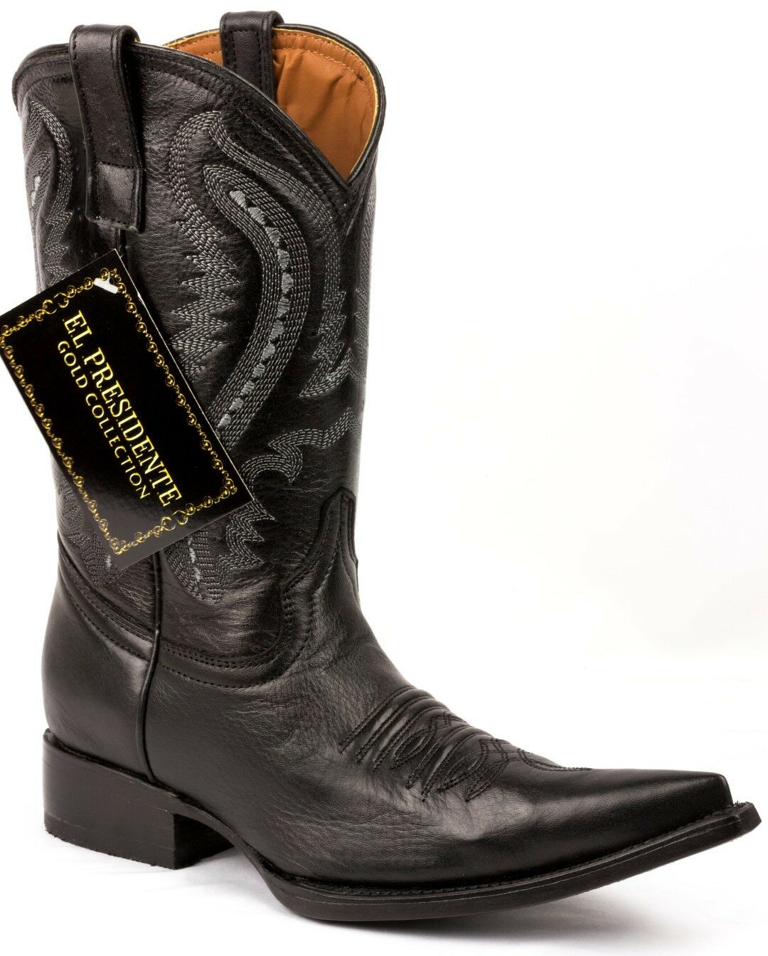 botas para mujer Occidental Vaquera Negro Suave Cuero Liso Liso Liso Puntera 3X Talla 5  Envío rápido y el mejor servicio