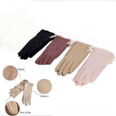 High Quality Womens Summer Dot Print Design Short Driving Sunscreen Gloves