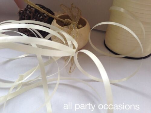 Ivory / Cream Curling Ribbon 25M, 50M, 100M from 99p Free Postage