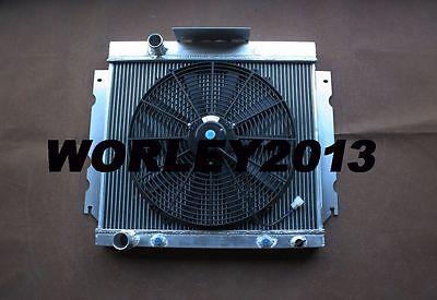 Aluminum alloy radiator + fan for Chrysler Valiant VG HEMI 6 Cyl